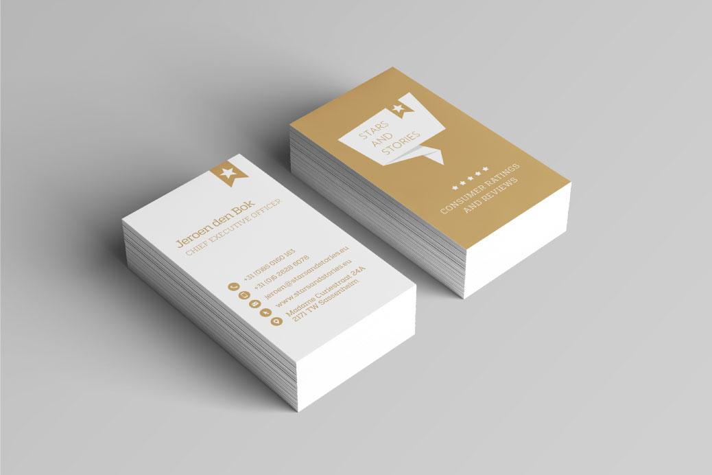 visitekaartjes logo visuele identiteit stars and stories