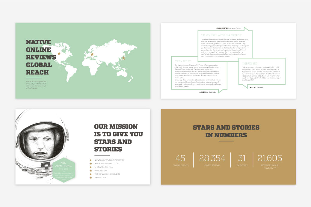 presentation slides powerpoint presentatie stars and stories grafisch