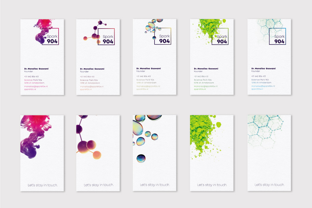 kleurige visitekaartjes businesscards design Spark904