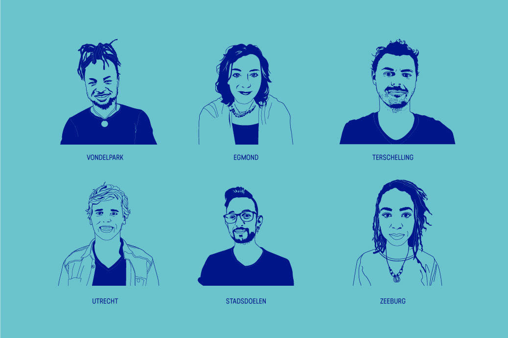 illustrated icon serie stayokay employees