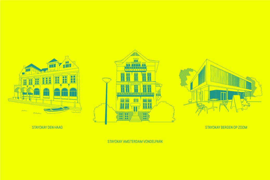 iconenreeks stayokay hostels gebouwen