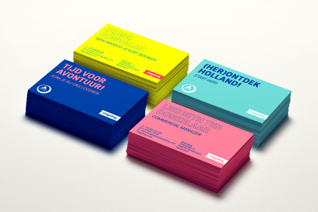 colourful businesscards visitekaartjes design