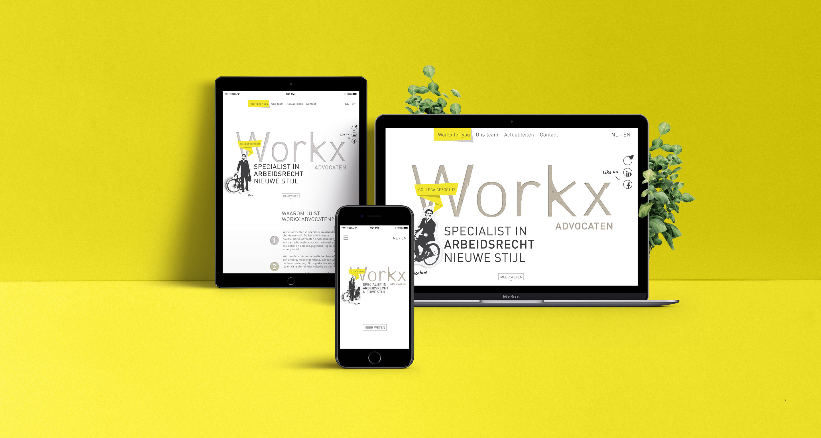 workx responsive webdesign mobile tablet desktop design