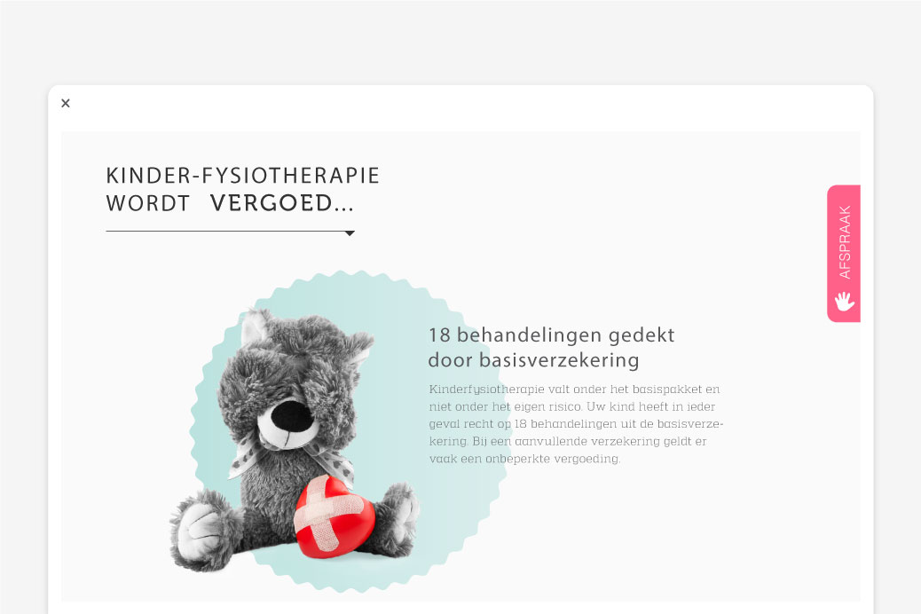 physiotherapy webdesign page