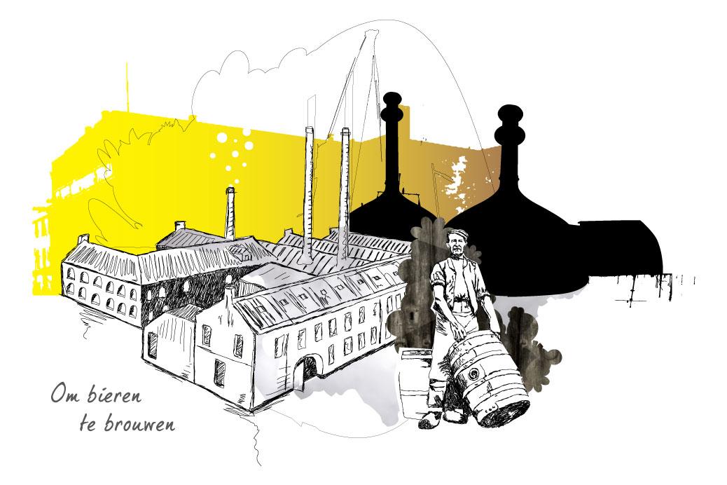 gulpener brouwer illustratie animatie ontwerp