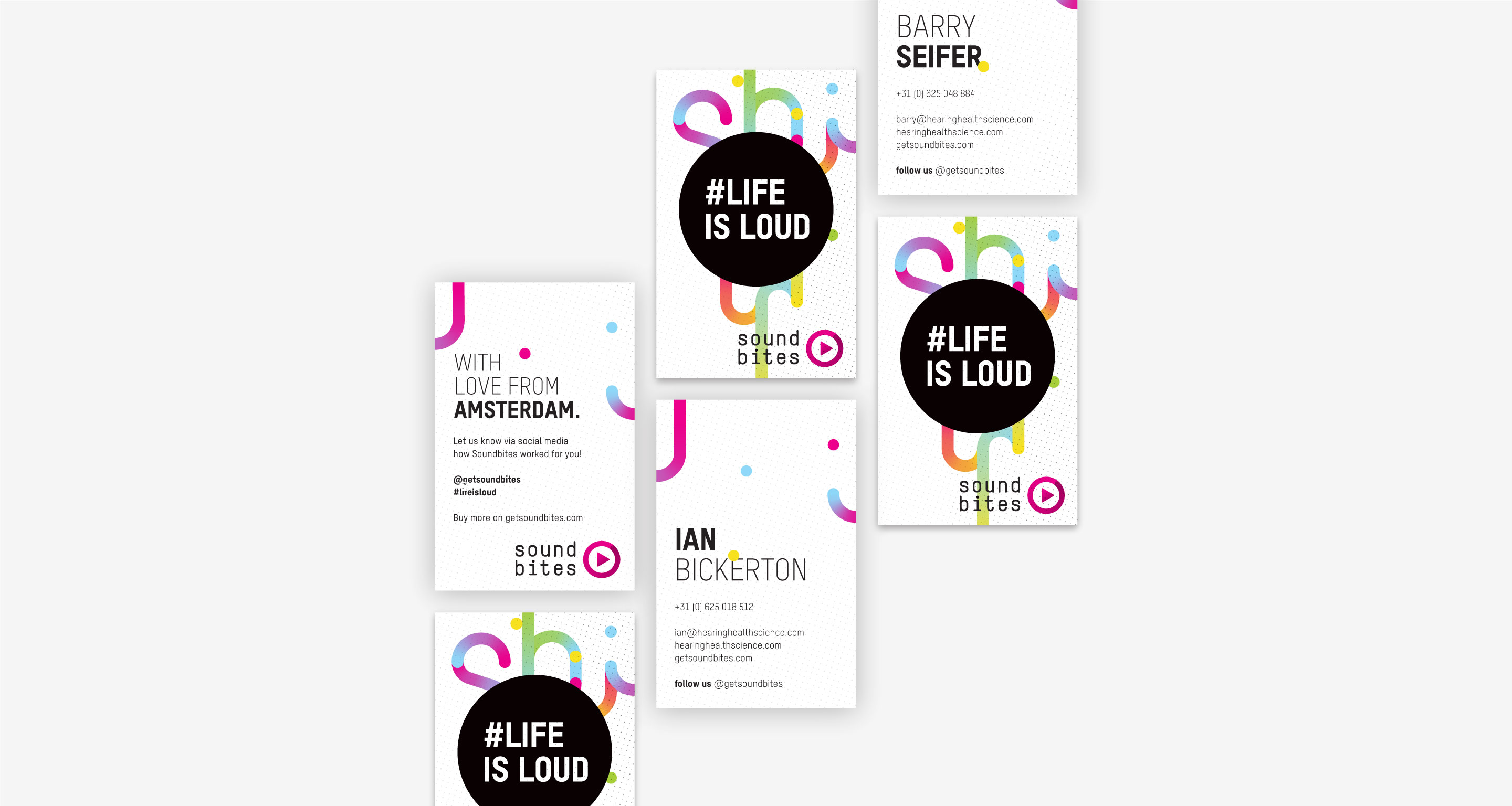 soundbites businesscards design grafik