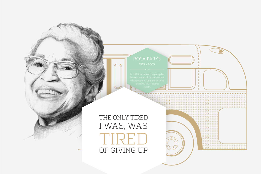 rosa parks stars and stories illustration graphic design stars and stories
