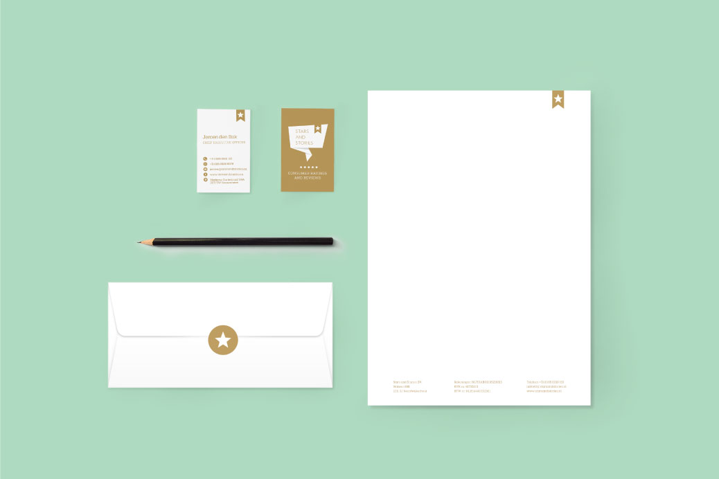 letterhead envelope businesscards visual identity stars and stories