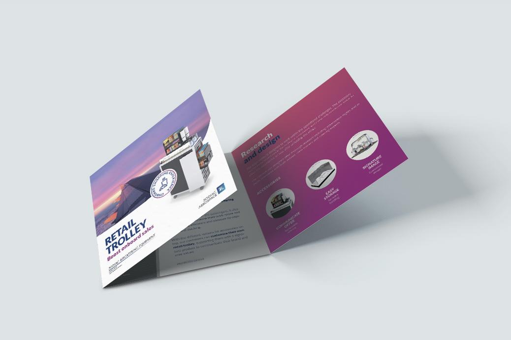 zodiac ontwerp brochure luchtvaart