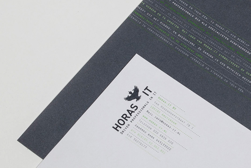 horas it corporate identity design matrix garuda
