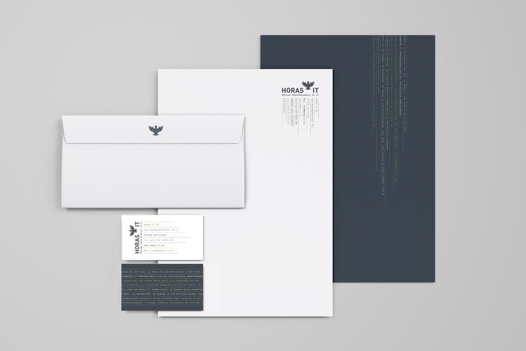 horas it huisstijl ontwerp visitekaartje briefpapier envelop