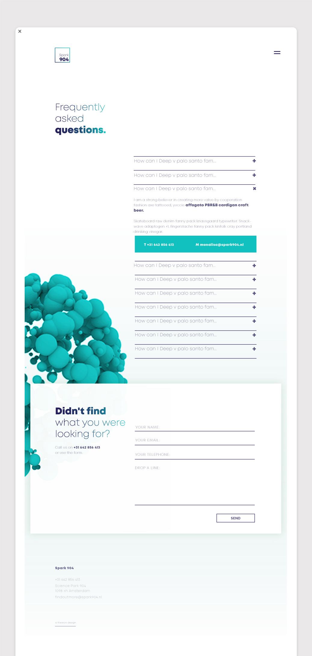 webdesign spark 904 FAQ ontwerp