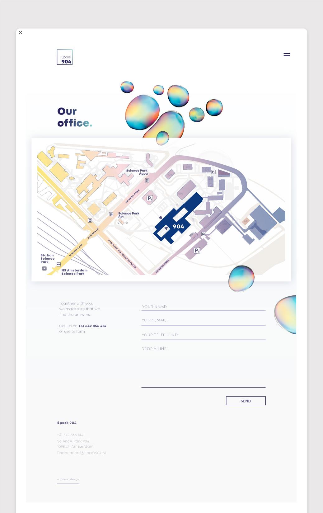 webdesign spark 904 plattegrond map contact ontwerp