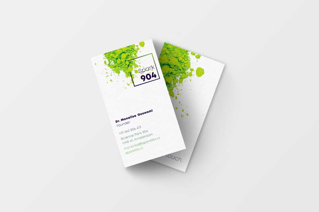 kleurige visitekaartjes varianten businesscards design Spark904