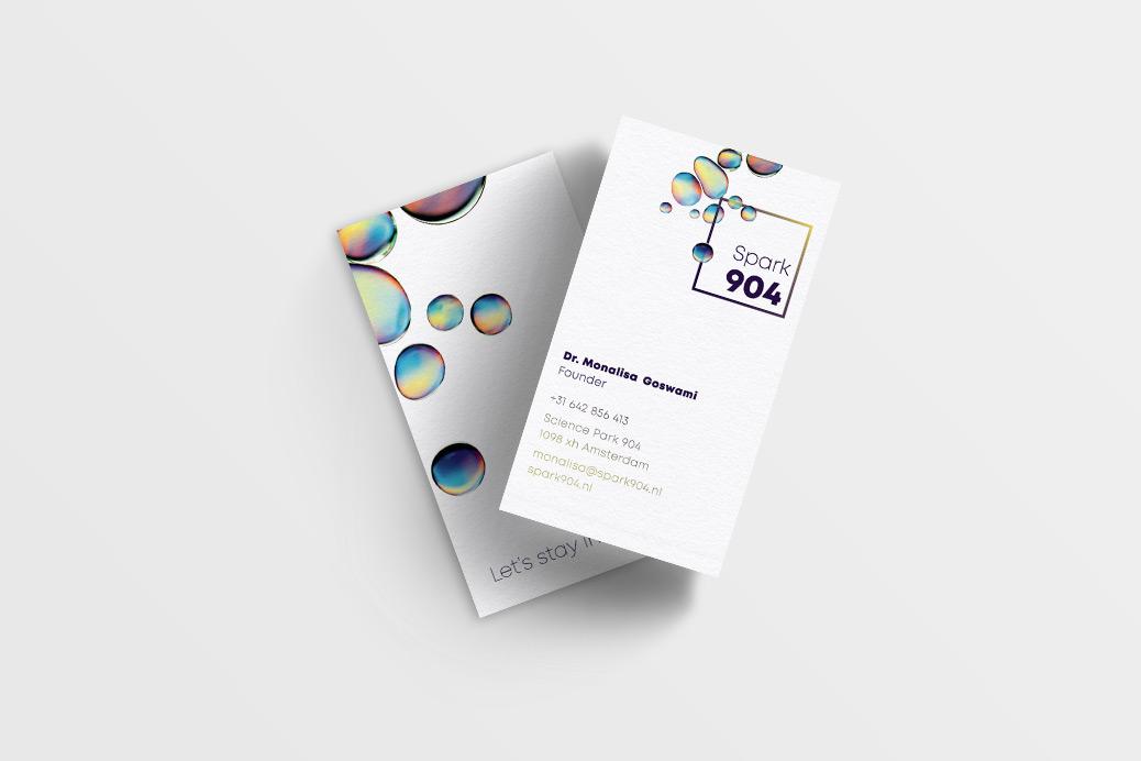 visitekaartjes science businesscards design Spark904