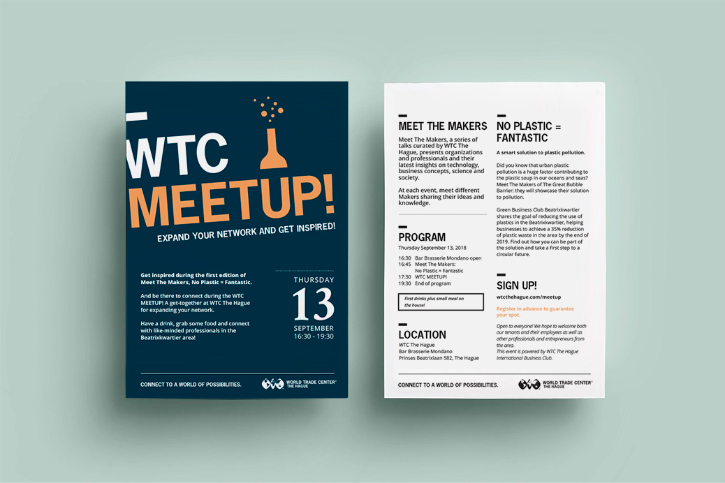 wtc meetup poster affiche invitation design