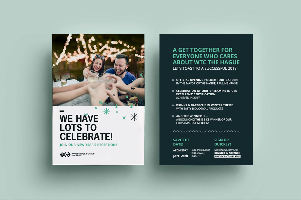 wtc flyers uitnodiging ontwerp