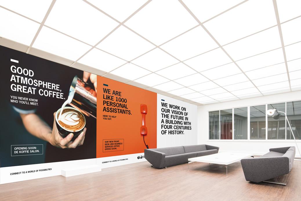 world trade center lobby wandpanelen typografie
