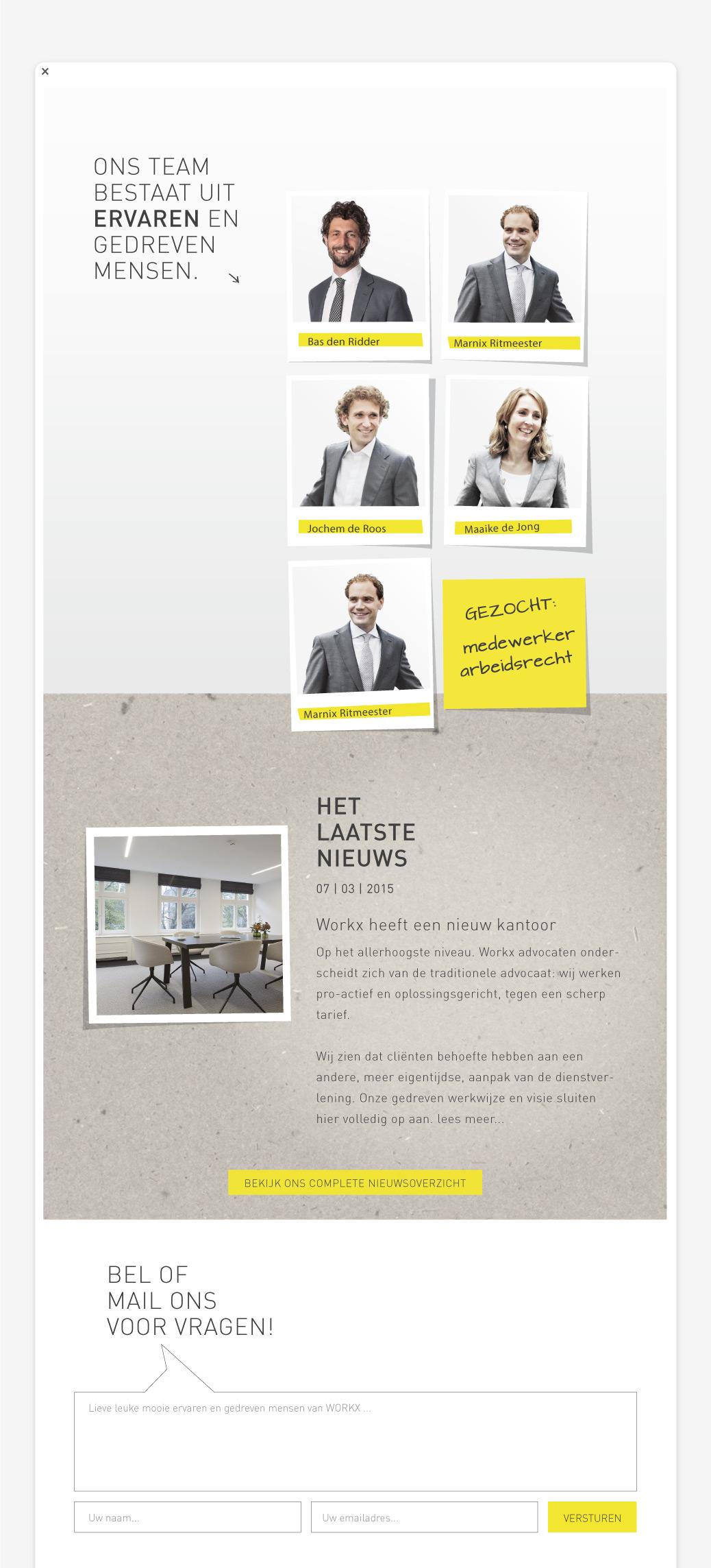 workx advocaten frisse website