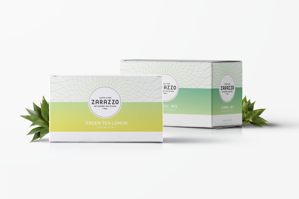 colourful tea package box design zarazzo