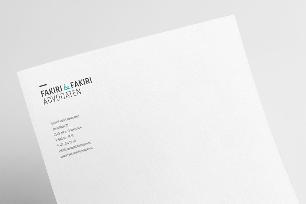 fakiri advocaten huisstijl briefpapier