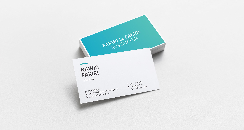 fakiri advocaten huisstijl briefpapier visitekaartjes