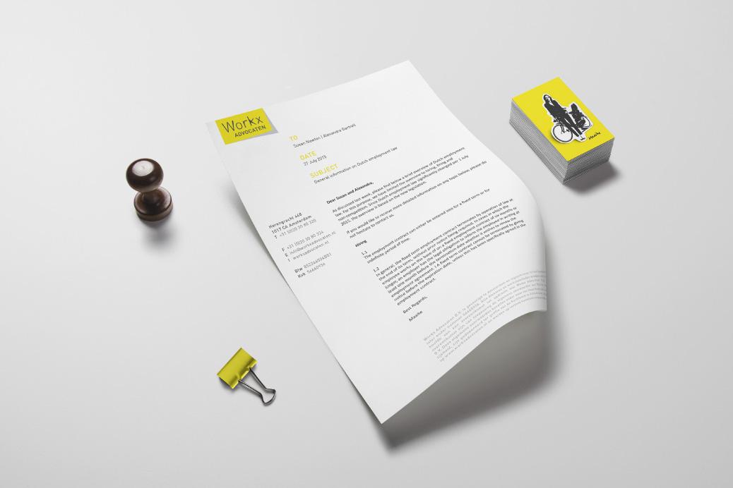 workx arbeidsrecht advocaten amsterdam huisstijl ontwerp