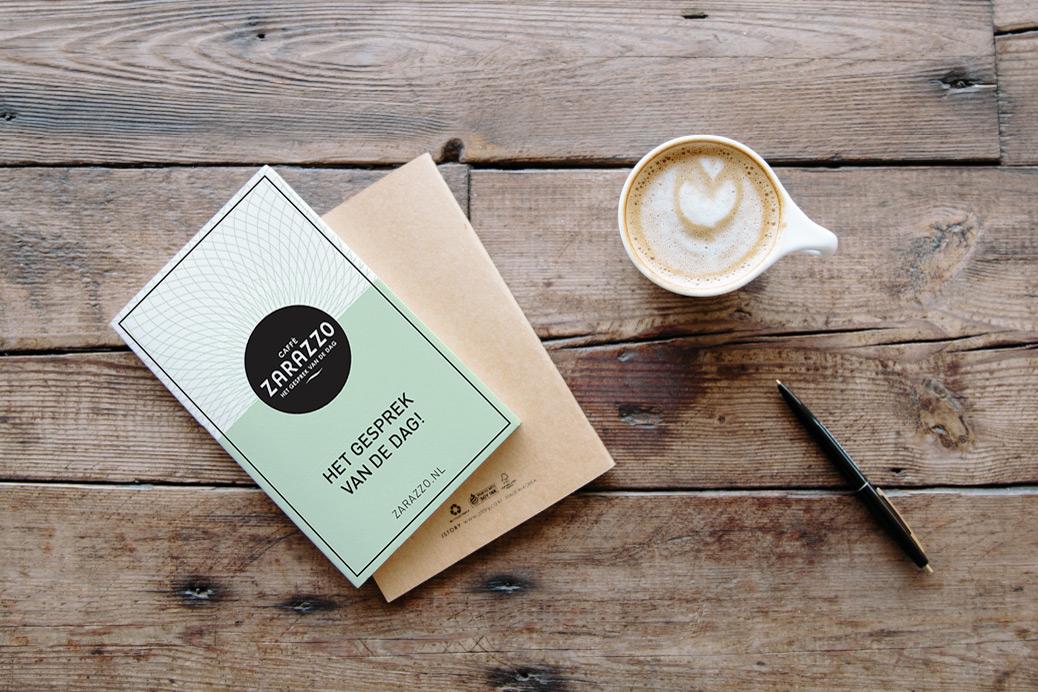 zarazzo koffie leverancier drukwerk
