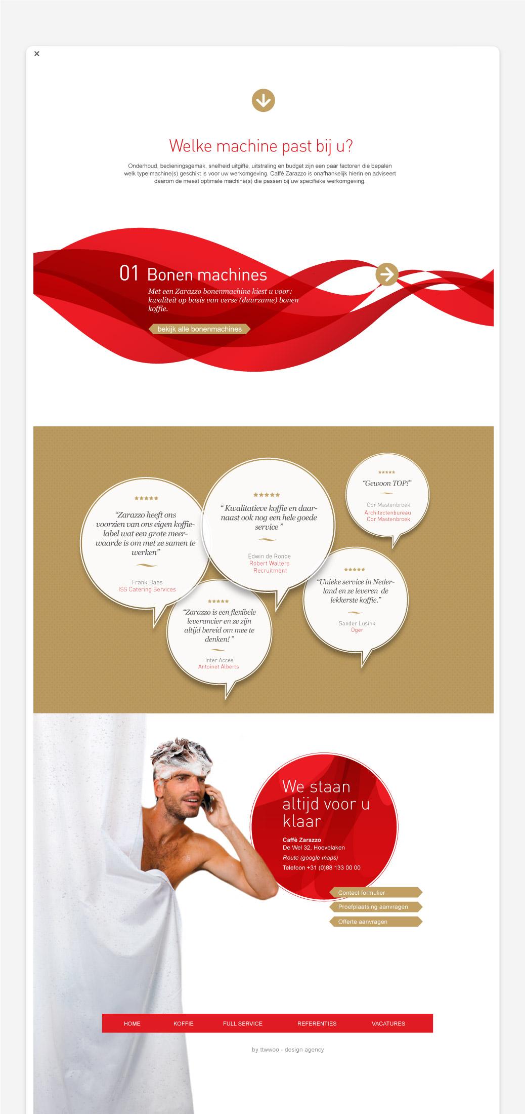 zarazzo koffie leverancier website