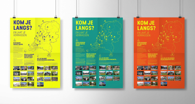 Stayokay gevouwen brochures tot poster